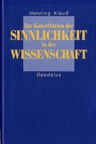 ISBN 9783891260326 Zur Konstitution der Sinnlichkeit in der Wissenschaft