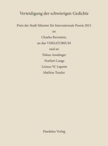 ISBN 9783891263006 Verteidigung der schwierigen Gedichte